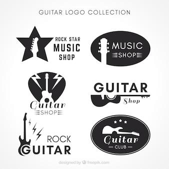 Коллекция логотипа guitar