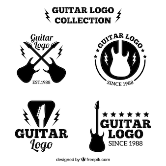 Guitar logos set