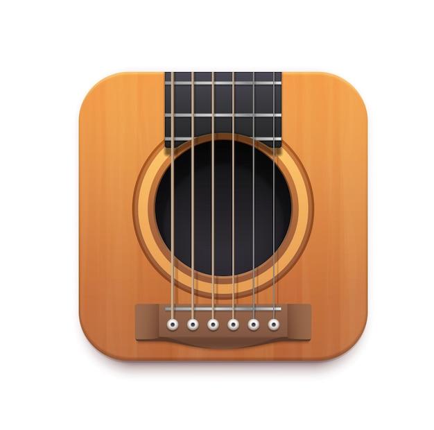 Значок интерфейса музыкального приложения гитара