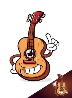Guitar music cute cartoon characters