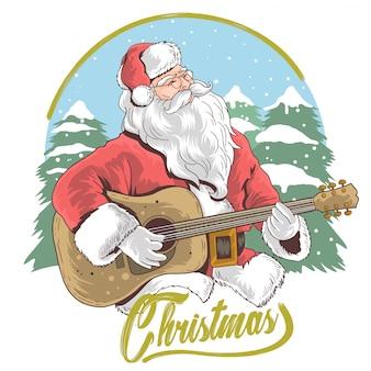 Guitar santa claus