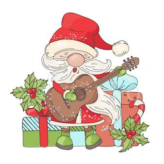 Guitar santa music merry christmas