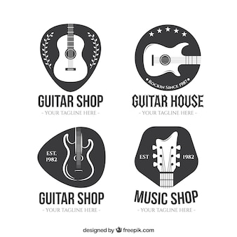 Guitar shop logo collection