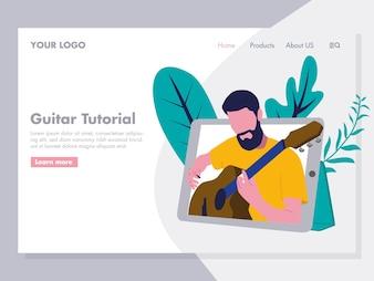 Guitar Tutorial Illustration for landing page