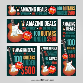 セットギターのwebバナー