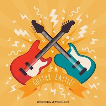 Guitars battle background