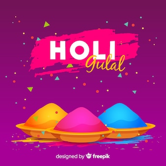 Gulal holi festival background