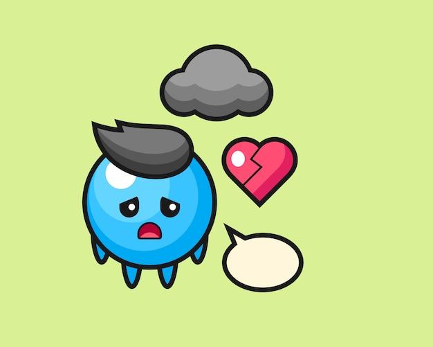 Резинка шар мультфильма разбитое сердце