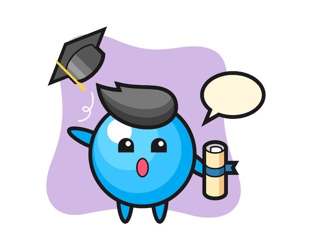 卒業式で帽子を投げるガムボール漫画