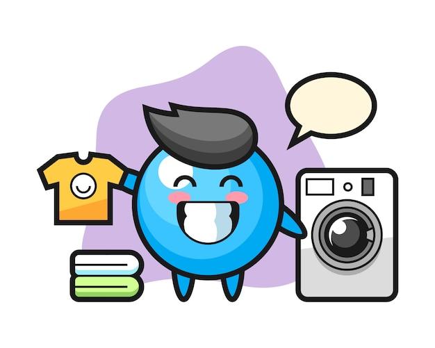 Мультяшный резинка со стиральной машиной