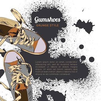 Gumshoes sketch grunge