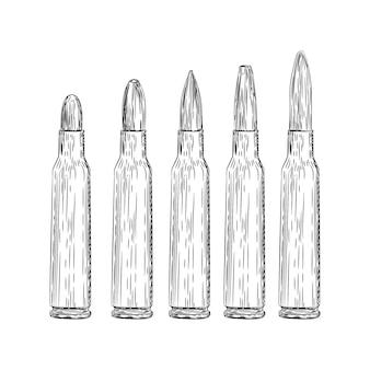 Gun bullets illustration vector
