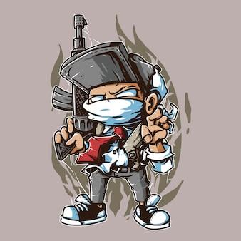 Gun mascot