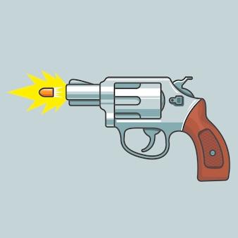Gun revolver shoots