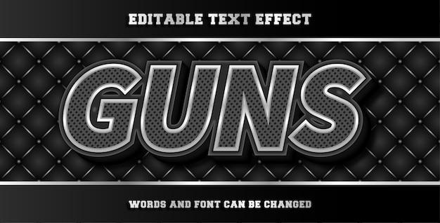 Guns editable text effect