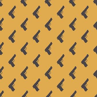 銃のパターンのイラスト。クリエイティブとラグジュアリースタイルのイメージ