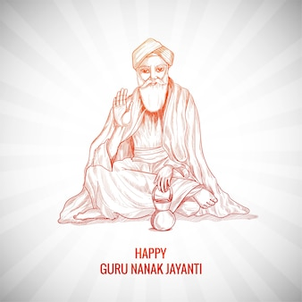 Guru nanak jayanti festival of sikh background