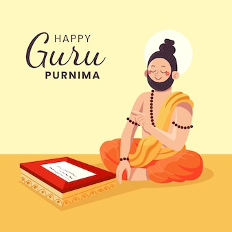 Иллюстрация празднования гуру пурнима