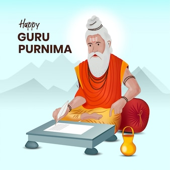 Guru purnima greeting   template
