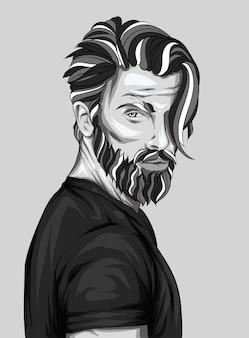 Парень с бородой. мужчина.