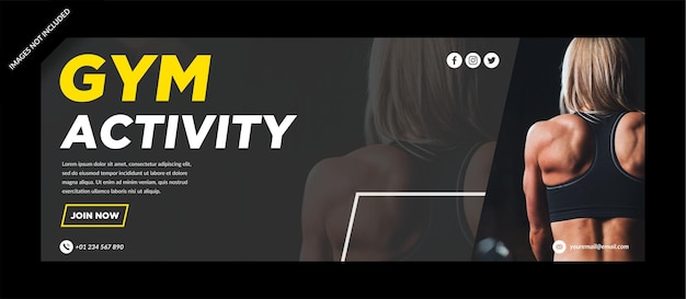 Gym activity facebok cover template