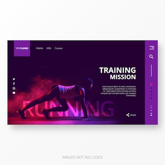 Gym and Training Landing Page Template