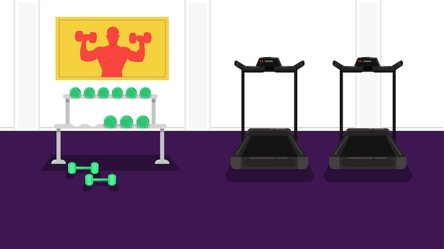 Gym background vector illustration