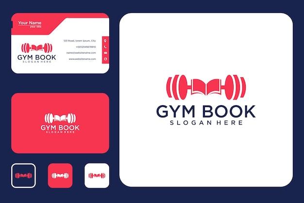 Дизайн логотипа книги спортзала и визитная карточка