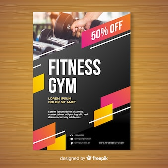 Gym brochure template