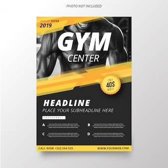 Gym Center Brochure Template