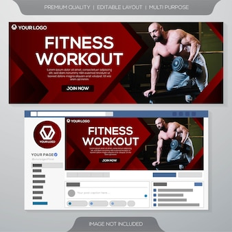 Gym club web banner template