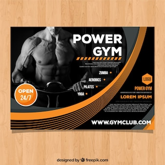 Gym cover template with image