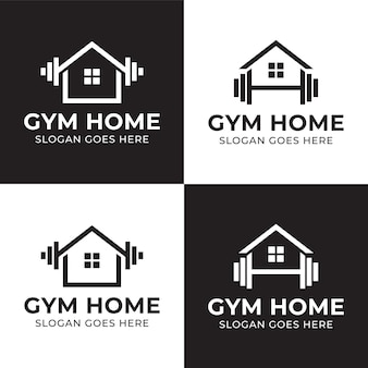 Gym equipment barbells shop for personal fitness with a home logo or market for workouts at home