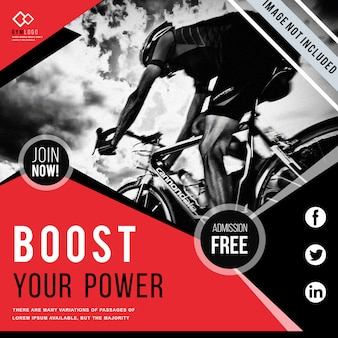 Gym fitness banner template