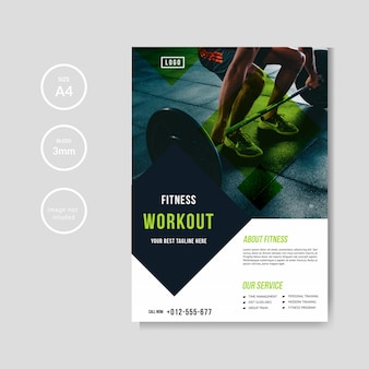 Gym and fitness flyer template