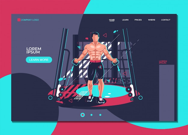 Gym fitness landing page template