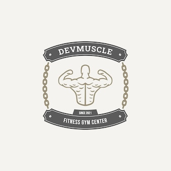 Gym fitness logo badge collection