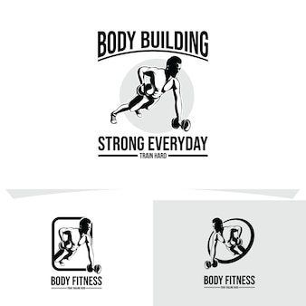 Gym and fitness logo design illustration