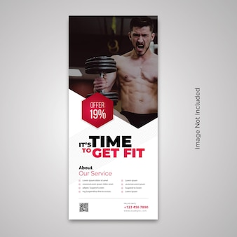 Gym fitness rollup banner