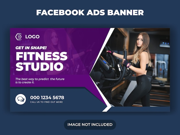 Gym fitness and workout social media banner post banner