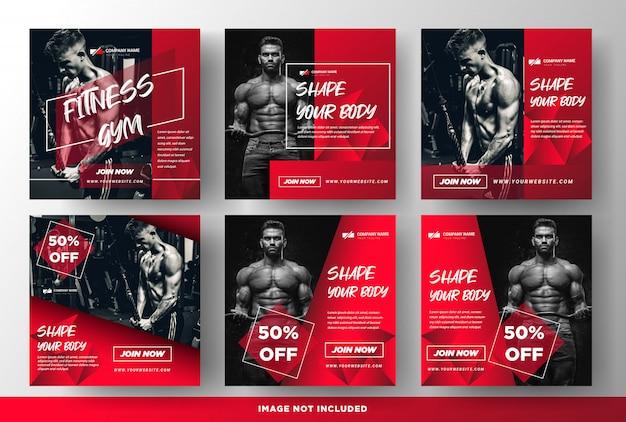 Gym fitness продвижение сми социальные шаблоны постов