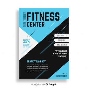 Gym flyer brochure