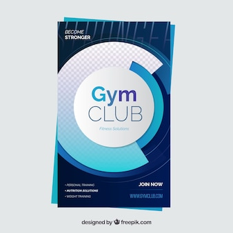 Gym flyer template with modern style