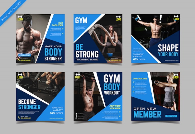Gym instagram post collection template