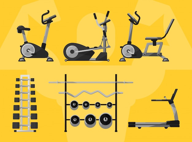 Gym isolated equipment