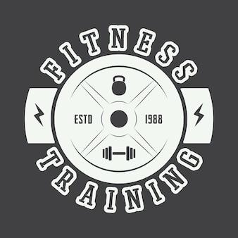 Логотип тренажерного зала в винтажном стиле. векторная иллюстрация