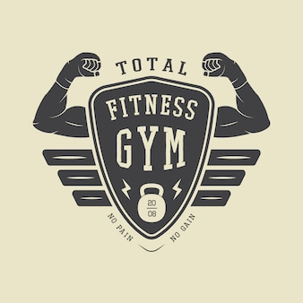 Gym logo, label and badge