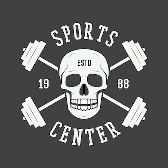 Gym logo, label