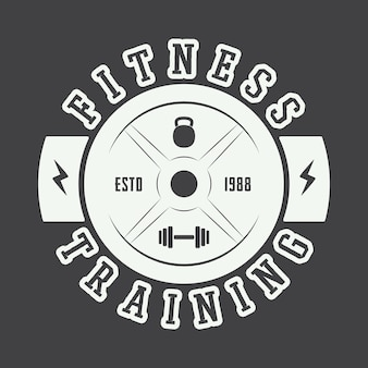 Gym logo in vintage style. vector illustration
