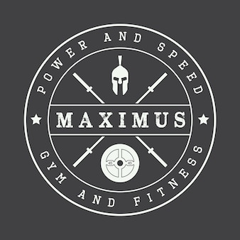 Gym logo in vintage style